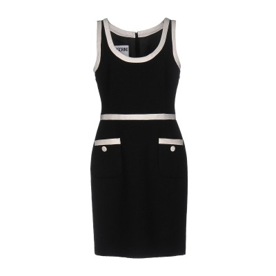 モスキーノ MOSCHINO ミニワンピース&ドレス ブラック 44 90% コットン 10% ナイロン ミニワンピース&ドレス