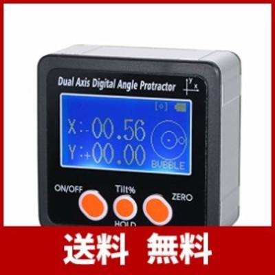 KK moon デジタルレベル 傾斜計 角度計 IP65 二重軸線 デジタル角度 分度器 防水 アルミ合金 4 * 90°測定範囲 デジタル傾斜計