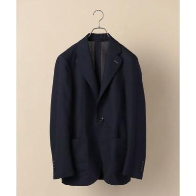 ジャケット テーラードジャケット SD:【手洗い可能】ライト テクニカル ソリッド ネイビー ブレザー