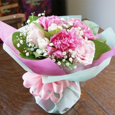カーネーション 花瓶のいらない花束 ブーケ ピンク系 プレゼント 花束 生花 花ギフト ひな祭り 母の日 卒業