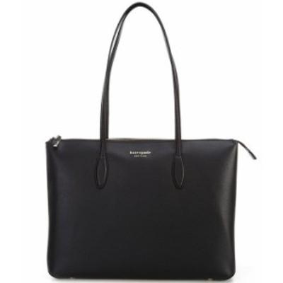 ケイトスペード レディース トートバッグ バッグ All Day Large Leather Zip Top Tote Bag Black