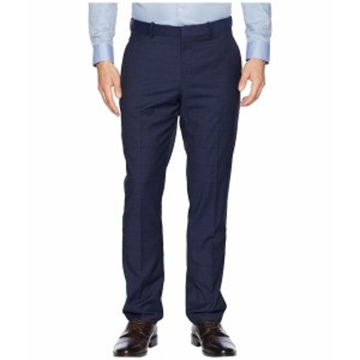 ペリーエリス メンズ カジュアルパンツ ボトムス Slim Fit Large Tonal Windowpane Dress Pants Navy