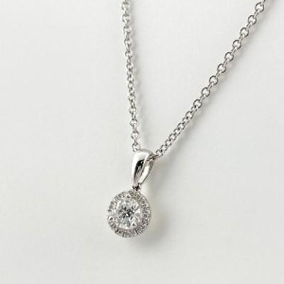 ダイヤモンド デザインネックレス 18K ホワイトゴールド ペンダント ネックレス WG ダイヤモンド レディース 中古