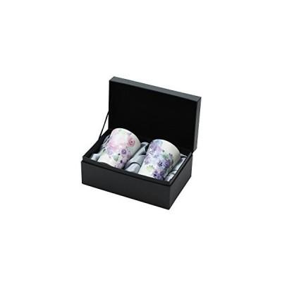 セラミック藍 花工房 ペアフリーカップ ピンク/ブルー 布貼箱 01488