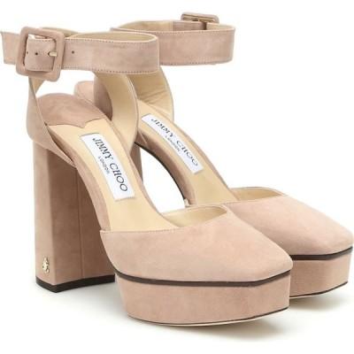 ジミー チュウ Jimmy Choo レディース パンプス シューズ・靴 jinn 125 suede platform pumps Ballet Pink