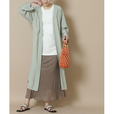 N.Natural Beauty Basic/エヌ ナチュラルビューティーベーシック レヴィータプリーツ風スカート ブラウン M