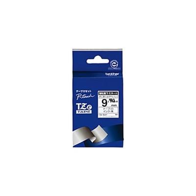 ピータッチ用TZeテープカセット 強粘着白に黒文字9ミリ幅 TZE-S221 1本