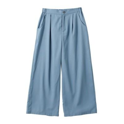 【大きいサイズ】 のびる裏微起毛ゆるガウチョパンツ(オトナスマイル) パンツ, plus size pants