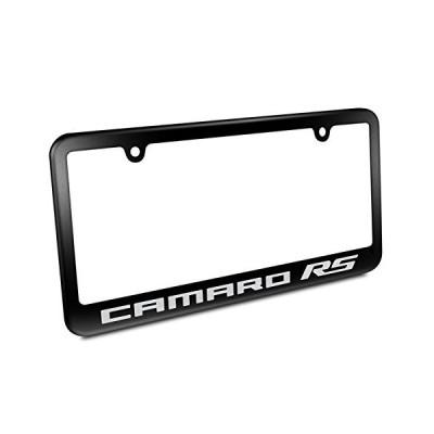 Chevrolet Camaro RS Matte Black Metal License Plate Frame