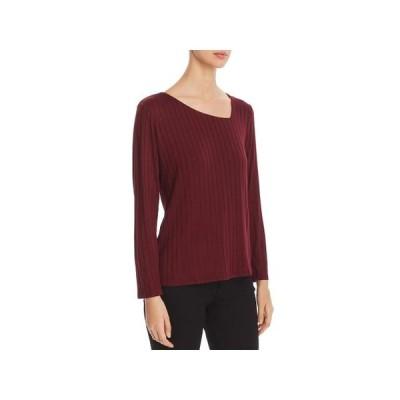 レディース 衣類 トップス K&C Womens Ribbed Asymmetric Pullover Top ブラウス&シャツ
