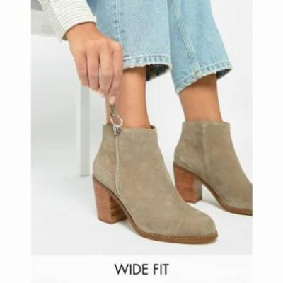 エイソス ブーツ Wide Fit Explorer Suede Ankle Boots Sand suede