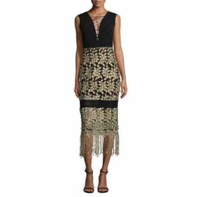 ベルバッジリーミシュカ レディース ワンピース Tasseled Lace-Up Midi Dress