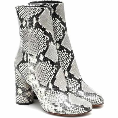 ヴェトモン Vetements レディース ブーツ ショートブーツ シューズ・靴 snake-effect leather ankle boots Grey