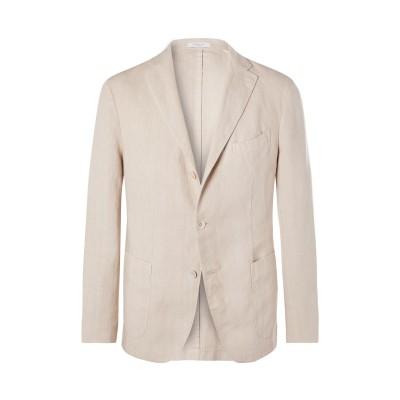 ボリオリ BOGLIOLI テーラードジャケット ベージュ 48 リネン 100% テーラードジャケット