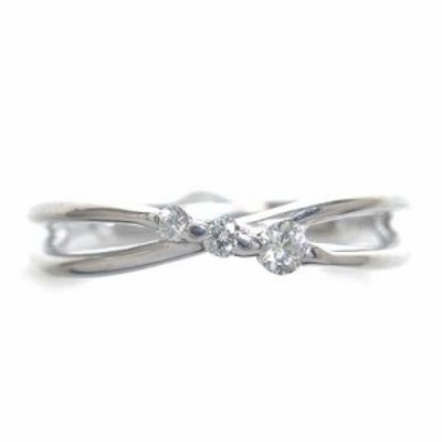 4月誕生石 K18ホワイトゴールドダイヤモンドリング