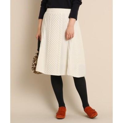 スカート Aラインニットスカート