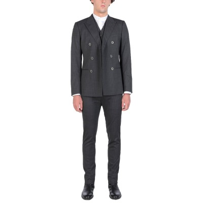 ドルチェ & ガッバーナ DOLCE & GABBANA スーツ スチールグレー 48 ウール 98% / ポリウレタン 2% スーツ