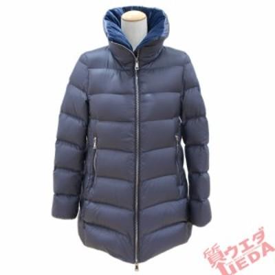 【栄】モンクレール ダウンジャケット ロング丈 E20934637980 ナイロン ネイビー 表記サイズ1 Sサイズ レディース