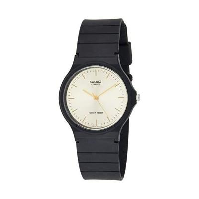 腕時計 カシオ メンズ MQ-24-9E Casio Men's MQ24-9E Black Resin Quartz Watch with Gold Dial