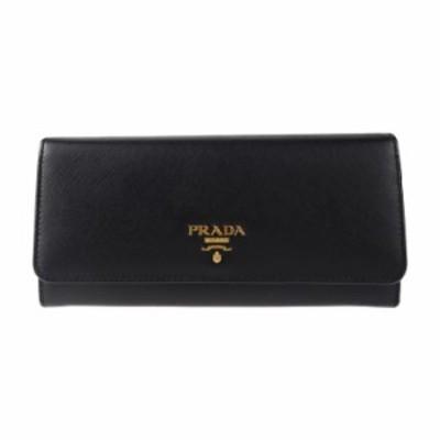 PRADA プラダ サフィアーノ 二つ折り 1MH132 長財布 レザー ブラック【本物保証】