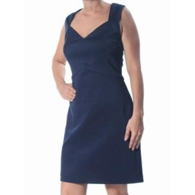 Jessica Howard ジェシカハワード ファッション ドレス Jessica Howard Womens Dress Navy Blue Size 14 Sheath Cutout-Back