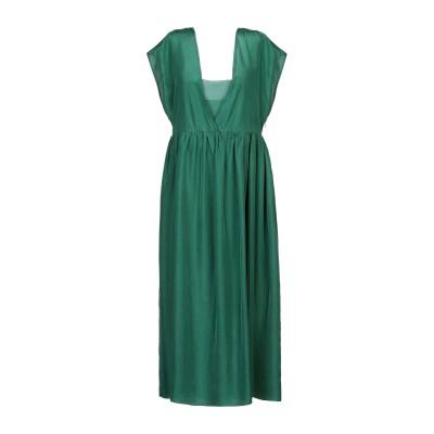 POMANDÈRE 7分丈ワンピース・ドレス エメラルドグリーン 40 シルク 100% 7分丈ワンピース・ドレス