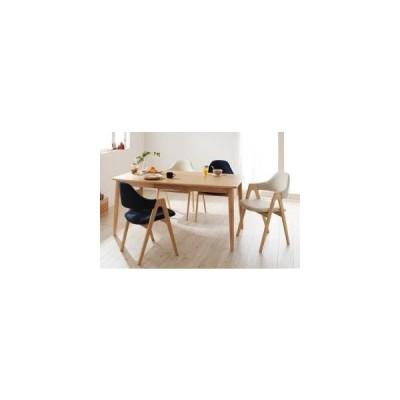 ダイニングテーブルセット 4人用 天然木タモ無垢材ダイニング 5点セット テーブル+チェア4脚 ハイタイプ W150 0406004417