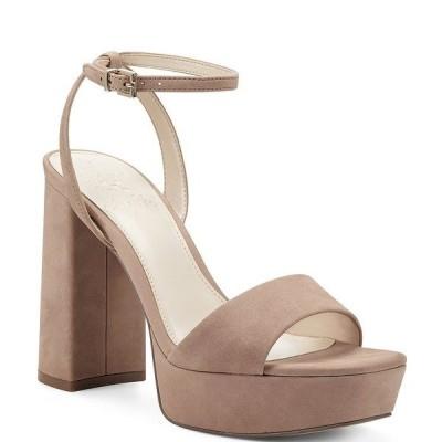 ヴィンスカムート レディース サンダル シューズ Chastin Nubuck Platform Dress Sandals Amendoa