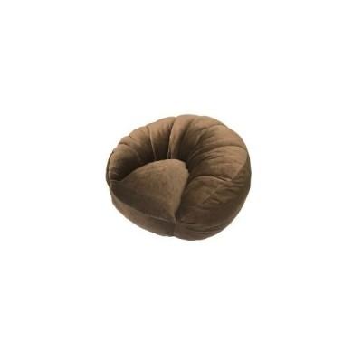 アキレス シングルソファー/座椅子 〔ブラウン〕 1人掛け コンパクトスタイル 中材:ウレタンフォーム、ポリエステルわた