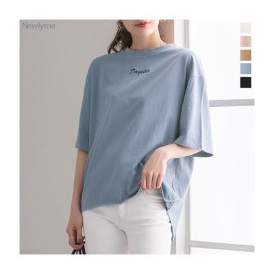 夢展望 [ロゴ刺繍Tシャツ|NL|CS|CI||] ブラック L レディース