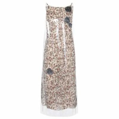 カルバンクライン Calvin Klein 205W39NYC レディース ワンピース スリップドレス ワンピース・ドレス Layered PVC and cupro slip dress