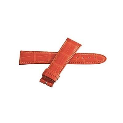 Locmanレディース22mmオレンジアリゲーターレザー時計バンドストラップ