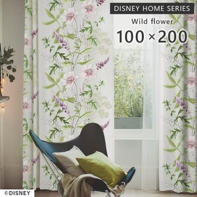 既製 カーテン ミッキー ワイルドフラワー 幅 100×丈 200 cm 1枚入 遮光 スミノエ製 DISNEY 送料無料