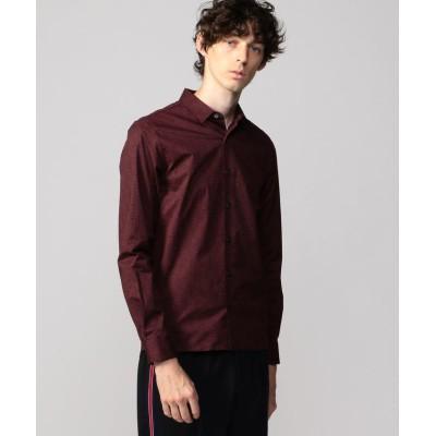【トゥモローランド】 サークルプリント スリムフィット レギュラーカラーシャツ メンズ 68ネイビー系 0 TOMORROWLAND
