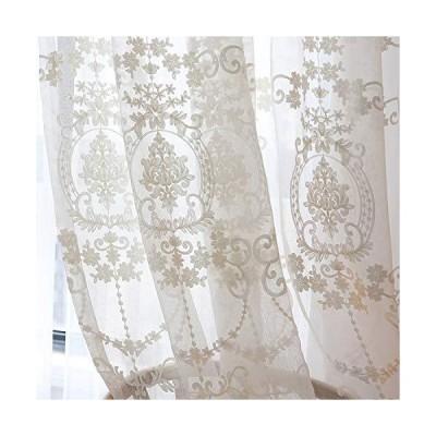 姫系レースカーテン おしゃれ カーテン レース カーテン 北欧 カーテン かわいい 刺繍 目隠し効果 通気性が良?