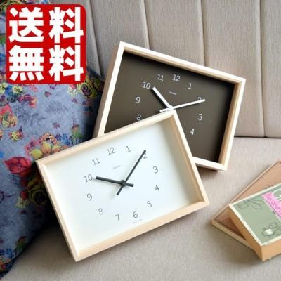 置き時計 Kaede カエデ NY14-02 置時計 掛け時計 掛時計 Lemnos レムノス