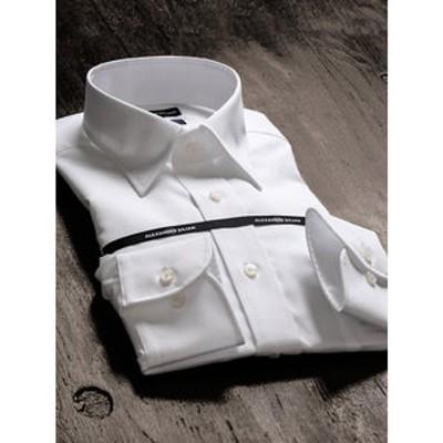 形態安定80双レギュラーフィットレギュラーカラー長袖ビジネスドレスシャツ