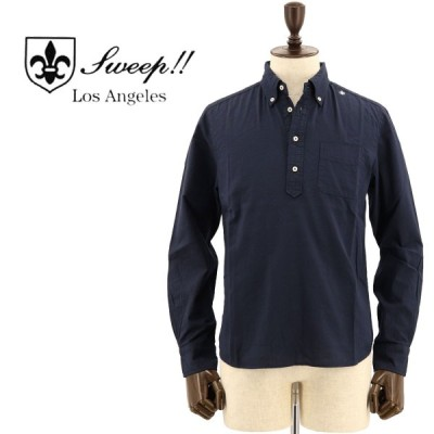 SWEEP!! LosAngeles スウィープ ロサンゼルス メンズ コットン スラブシャンブレー プルオーバーボタンダウンシャツ PULL SLUB CHAMBREY NAVY(ネイビー)