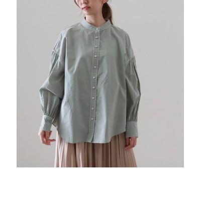 配色パイピングシャツ