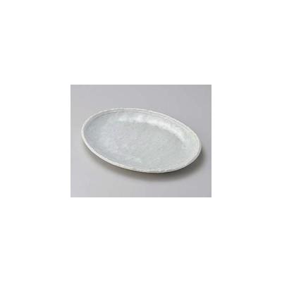 和食器 ロ189-057 オフケ白ライン6.0小判皿