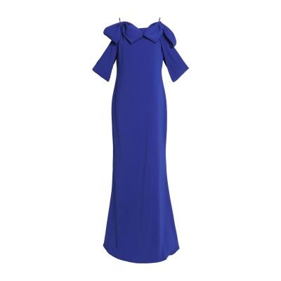 BADGLEY MISCHKA ロングワンピース&ドレス ブライトブルー 2 ポリエステル 98% / ポリウレタン 2% ロングワンピース&ドレス