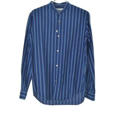 EDIFICE / エディフィス ストライプバンドカラー 長袖シャツ