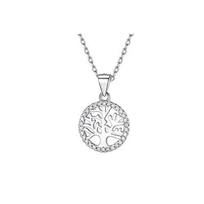 Silvora ツリーオブライフ 生命の樹 ネックレス レディース 人気 シルバー925 金属アレルギー ジルコニア アクセサリー