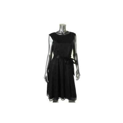 海外セレクション ドレス ワンピース Tahari ASL 5626 レディース Linda ネイビー Ribbon グリッター Easter カジュアル ドレス 8 BHFO