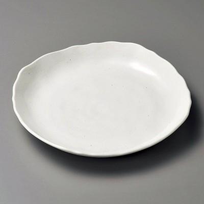 陶雅 粉引マット8.0皿