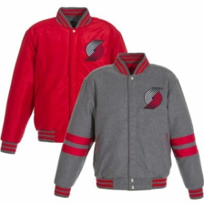 JH Design ジェイエイチ デザイン スポーツ用品  JH Design Portland Trail Blazers Gray Reversible Wool Jacket