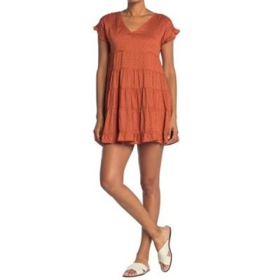 アンジー レディース ワンピース トップス Swiss Dot Tiered Dress BOMBAY BRO