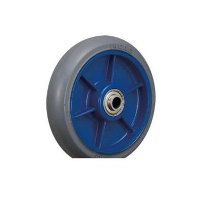 あすつく対応 「直送」 イノアック[LR150WGR] 低始動抵抗キャスター 車輪のみ Φ150 グレー シャフトΦ12 ポイント5倍