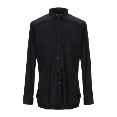 GUGLIELMINOTTI シャツ ブラック 38 コットン 70% / ナイロン 27% / ポリウレタン 3% シャツ