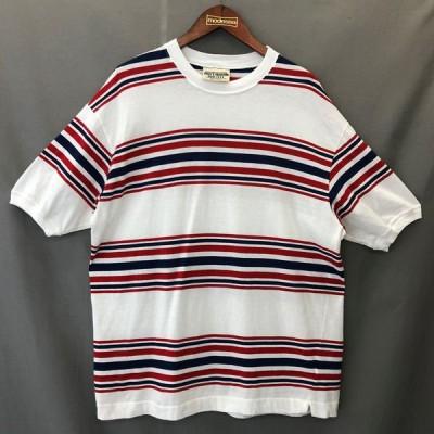 古着 SISLEY'S COLLECTION ボーダーTシャツ made in ITALY ホワイト系 メンズXL 中古 n025147
